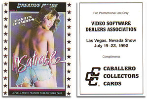 Caballero Collector Cards - Video Software Dealers  Association -  Promo Card - Marilyn Chambers