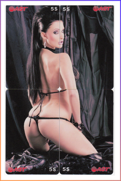 AGT - Aletta Ocean - 4 Card Phone Card Set - Back in Black