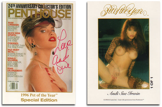 Penthouse - Andi Sue Irwin - Pet of the Year - Autograph Card 1 of 1