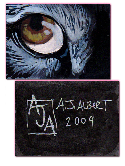 ACEO Original - WOLF'S EYE - AJ Albert