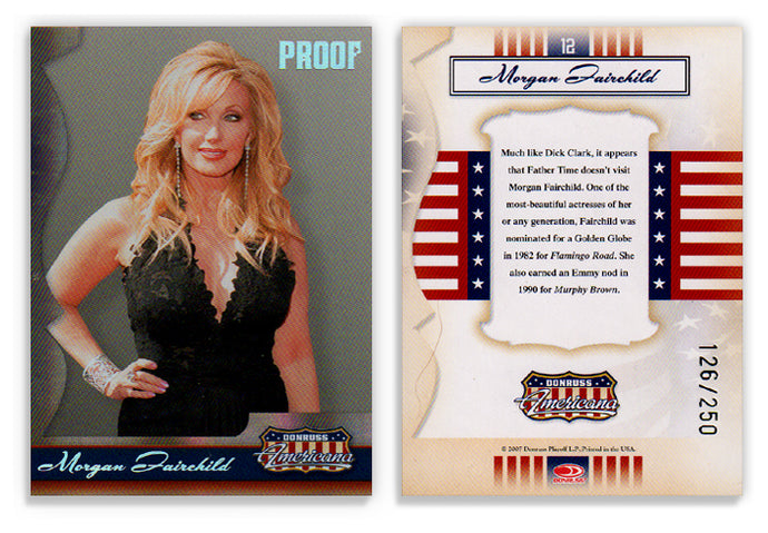 Americana - Series 1 - Morgan Fairchild - Silver Proof - Card 12 - #126/250