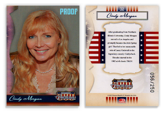 Americana - Series 1 - Cindy Morgan - Silver Proof - Card 32 - #056/250