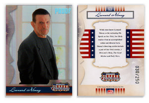 Americana - Series 1 - Leonard Nimoy - Silver Proof - Card 63- #030/250
