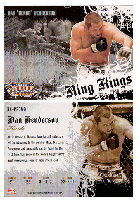 Boxing - RING KINGS - RK Promo Card - DAN HENDERSON