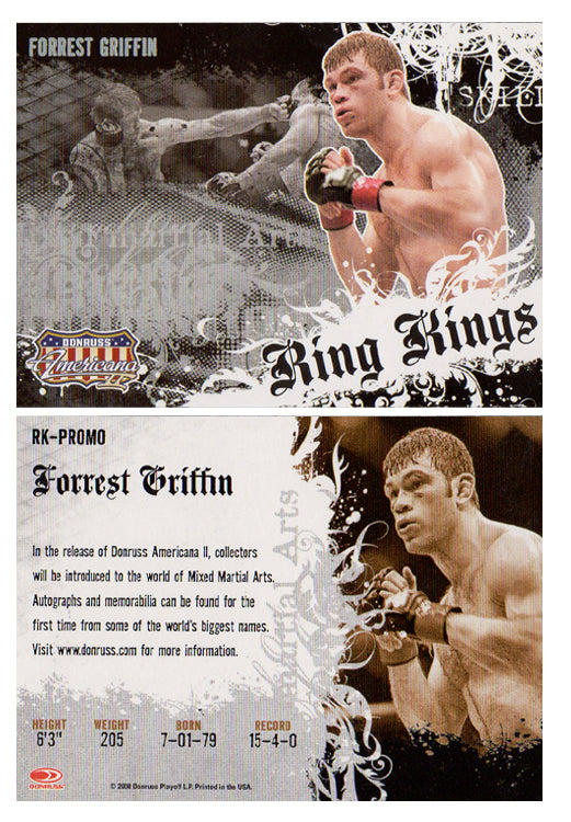 Boxing - RING KINGS - RK Promo Card - FOREST GRIFFIN