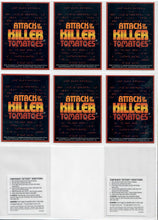 Load image into Gallery viewer, Attack of the Killer Tomatoes - 6 Card Promo Set - w/2 Temporary Tattoes