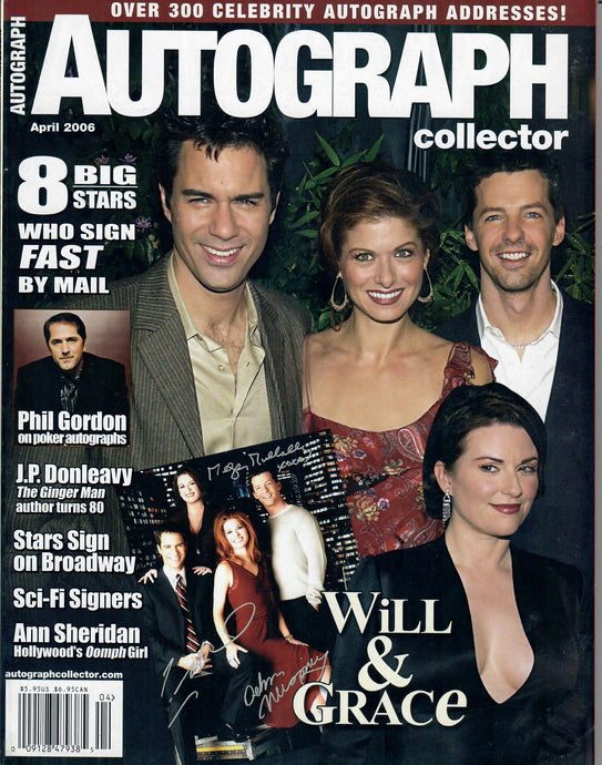 AUTOGRAPH Magazine - April 2006 - Will & Grace