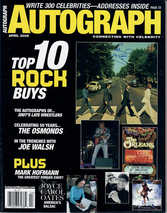 AUTOGRAPH Magazine - April 2008 - Top Rock Autographs