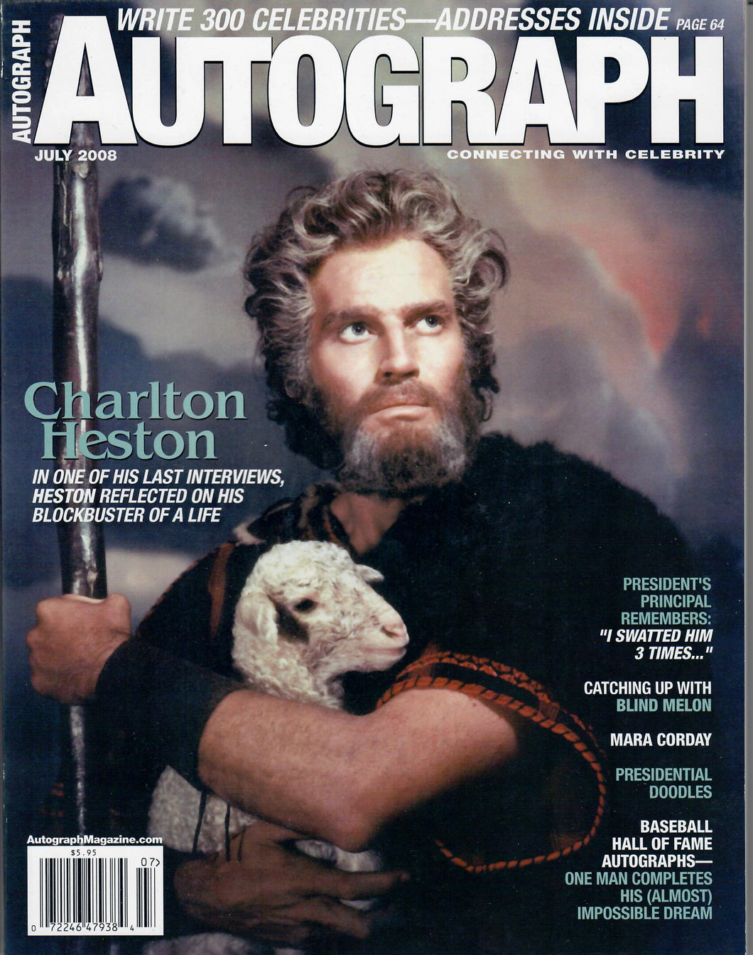 AUTOGRAPH Magazine - July 2008 - Charlton Heston