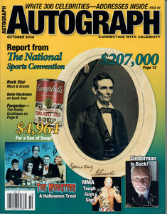 AUTOGRAPH Magazine - April 2008 - Abe Lincoln