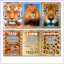 Load image into Gallery viewer, Awesome Trading Cards - Big Cats - 3 Card Promo Set
