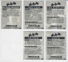 Load image into Gallery viewer, BATMAN - UNOCAL 76 - 5 Card Movie Promo Set