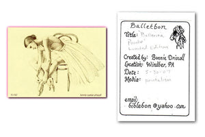 ACEO Edition - BALLETBON BALLERINA POINTE - Bonnie Driscoll