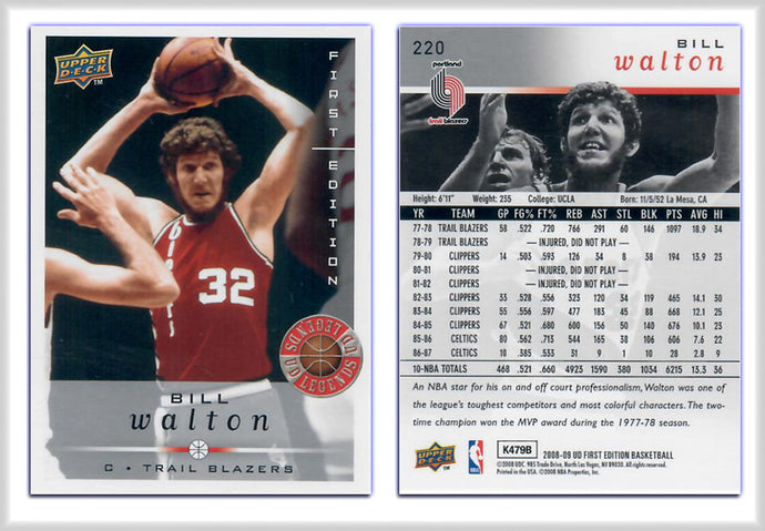 UpperDeck - 2008-09 Basketball - First Edition Premium - Card 220 - Bill Walton