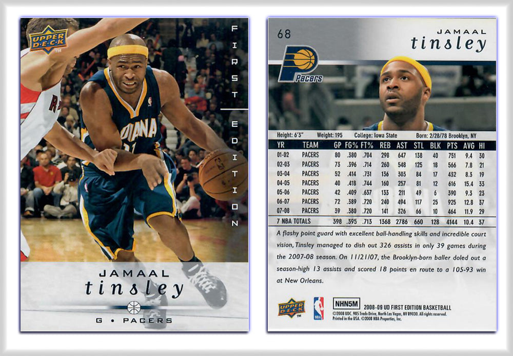 UpperDeck - 2008-09 Basketball - First Edition Premium - Card 68 - Jamaal Tinsley