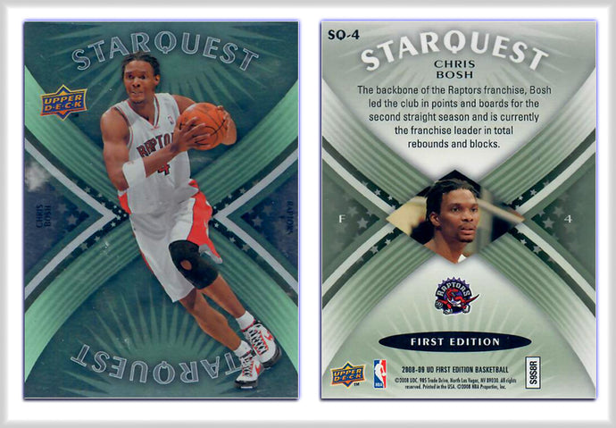 UpperDeck - 2008-09 Basketball - First Edition Premium - Card SQ4 - StarQuest - Chris Bosh