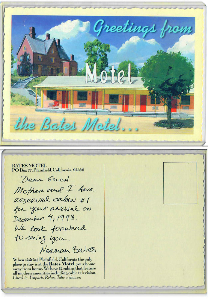 Bates Motel - Promo Postcard - From Norman Bates