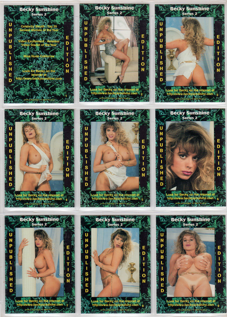 Lasting Images - Becky Sunshine - UnPublished Edition - Set 2 - 9 Card Set
