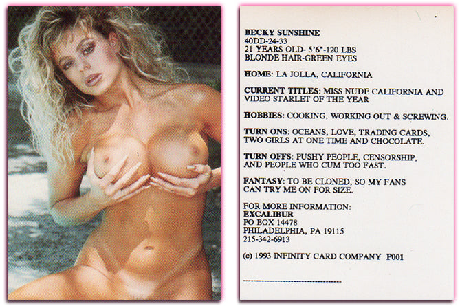 Becky Sunshine - Excalibur PROMO CARD - 1993 Infinity Cards