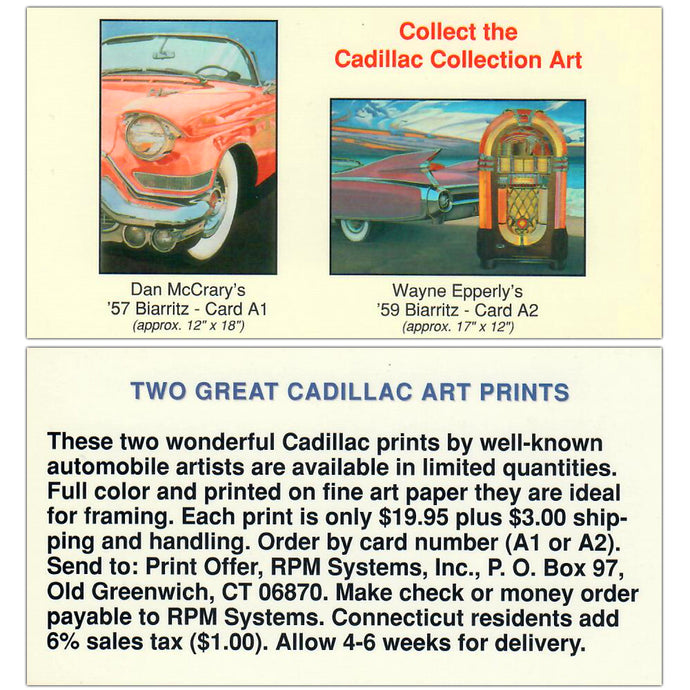 Cadillac Art Collection - Art Cards Subset A1 & A2 - Art Prints - Promo Card