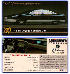 Cadillac Art Collection - 1988 Voyage Concept Car - Promo Card CC1