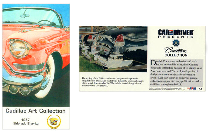 Cadillac Art Collection - 1959 Eldorado Biarritz - Art Cards Subset Card  A1