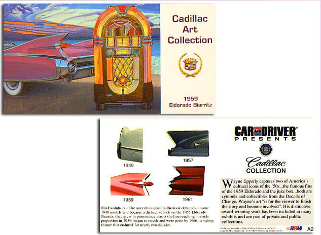 Cadillac Art Collection - 1959 Eldorado Biarritz - Art Cards Subset Card  A2