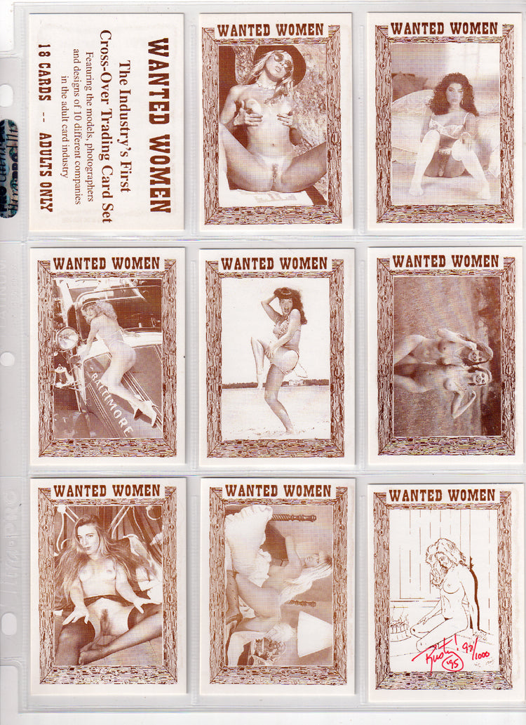 Card Body News - Complete 18 Card Set - Wanted Women / Becky Sunshine Puzzle Back