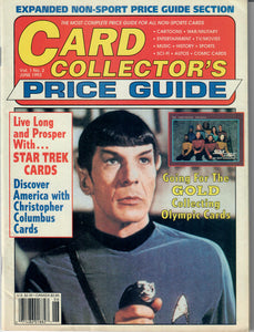 Card Collector's Price Guide -June 1992 Vol I No. 2 - Non-Sports Trading Cards Guide
