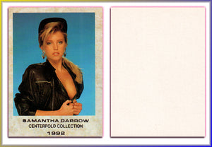 Infinity - Centerfolds Collection - Series 1 - Samantha Darrow - Silver Foil Tribute Card - Blank Back/Nice Stock