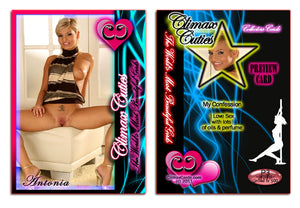 Climax Cards - Cuties 3 Card Preview Promo Set P1 - P3 - ANTONIA AUSTIN