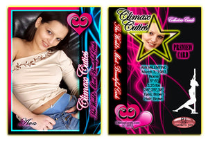 Climax Cards - Cuties 3 Card Preview Promo Set P1 - P3 - AVA VALENTINO