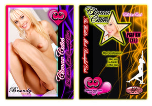 Climax Cards - Cuties 3 Card Preview Promo Set P1 - P3 - BRANDY McQUEEN