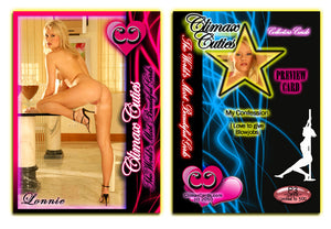 Climax Cards - Cuties 3 Card Preview Promo Set P1 - P3 - LONNIE LANE