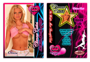 Climax Cards - Cuties 3 Card Preview Promo Set P1 - P3 - OLIVIA STONE
