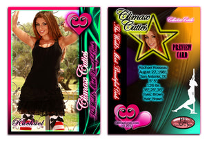 Climax Cards - Cuties 3 Card Preview Promo Set P1 - P3 - RACHAEL ROUSSEAU