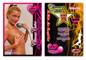 Climax Cards - Cuties 3 Card Preview Promo Set P1 - P3 - SONJA STRAIN