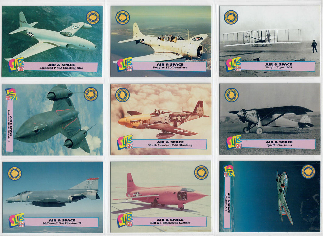 Club Pro Set - Air & Space - Smithsonian Institution - 9 Card Promo Set