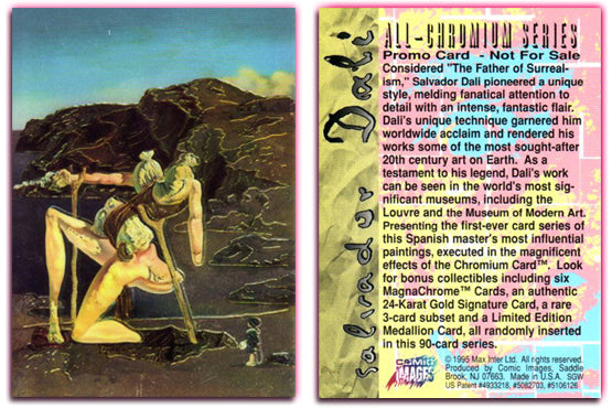 Salvador Dali - All Chromium - Promo Card