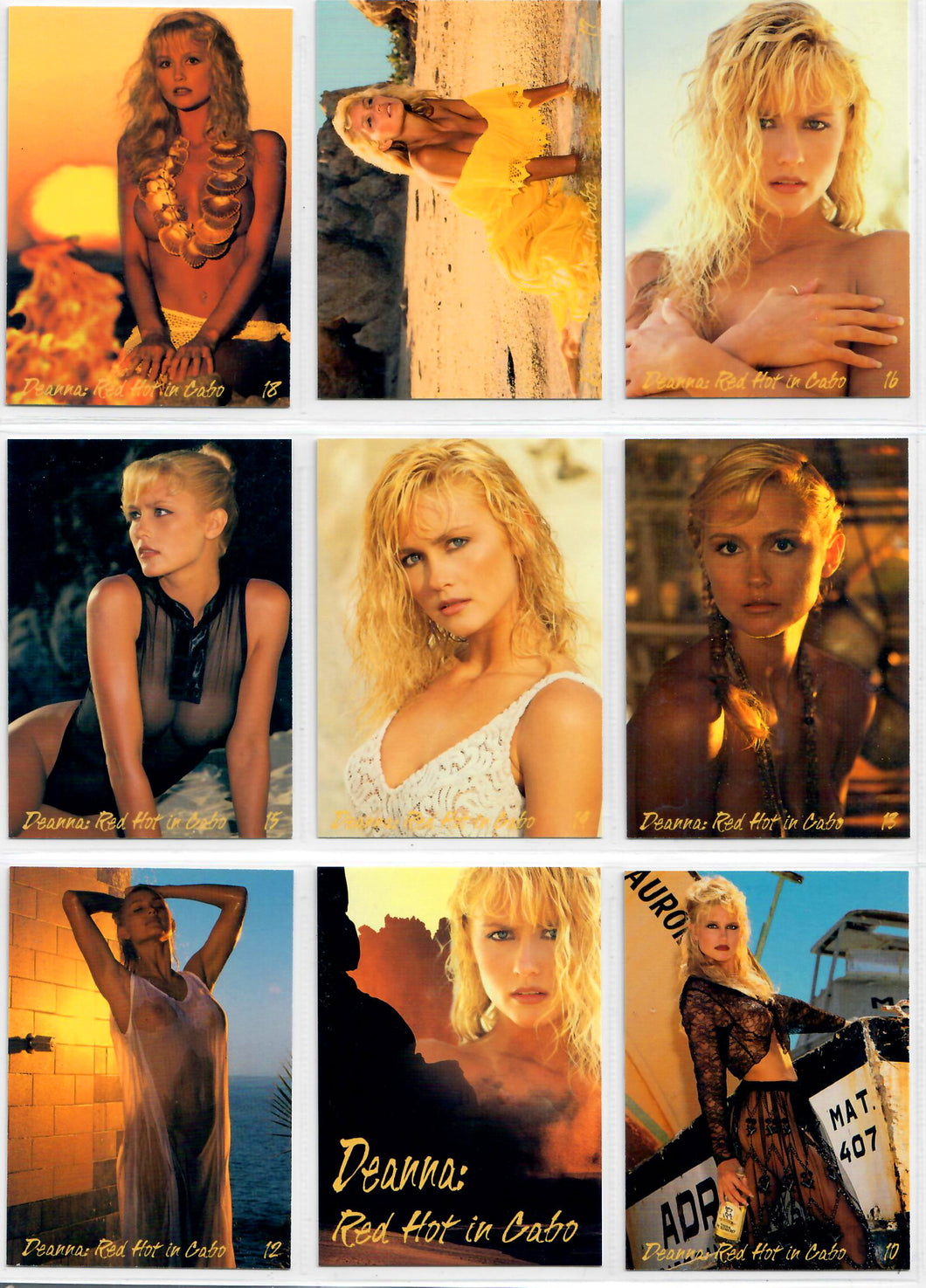 Image 2000 - Deanna Merryman - Red Hot In Cabo - Complete 18 Card Set w/Cover Card