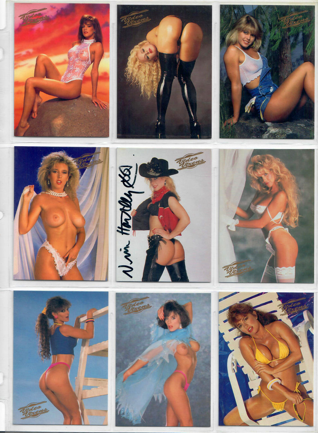 Video Vixens - Series 1  - Complete 48 Card Base Set - Decisive Marketing w/ Nina Hartley Autographed Card