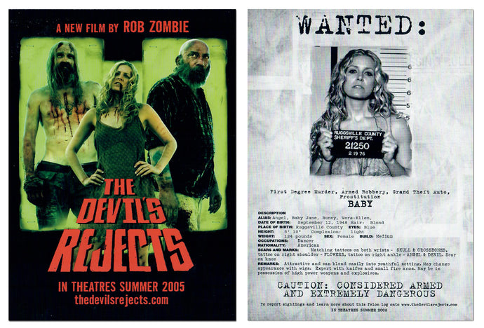 Rob Zombie's - The Devil's Rejects - Jumbo 5x7 Promo Card - Baby