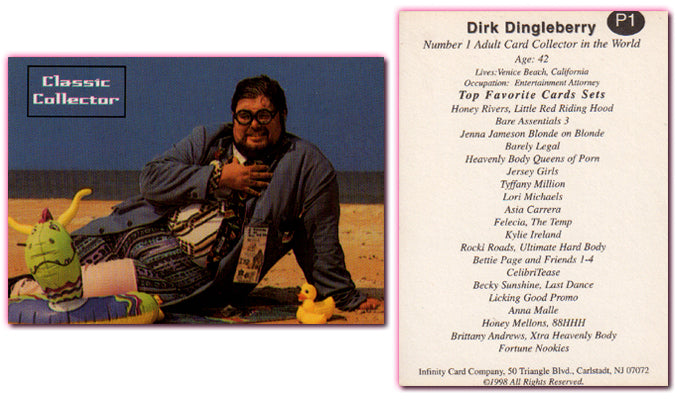 Dirk Dingleberry - Number 1 Adult Collector in the World - PROMO CARD - 1998 - Infinity