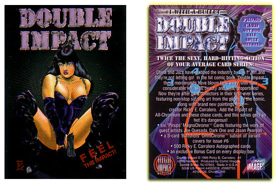 High Impact - Double Impact - Chromium Promo Card - Twice The Sexy...