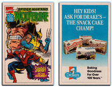 Load image into Gallery viewer, Marvel - 4 Drake Cakes Cupcakes Mini Promo Comic Books - Hulk, Silver Surfer, Wolverine & Spider-man
