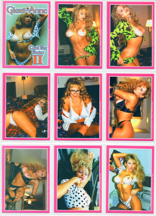 Gloria Anne II - Trading Card Set - EH! Productions - Everette Hartsoe - 18 Card Puzzle Back Set