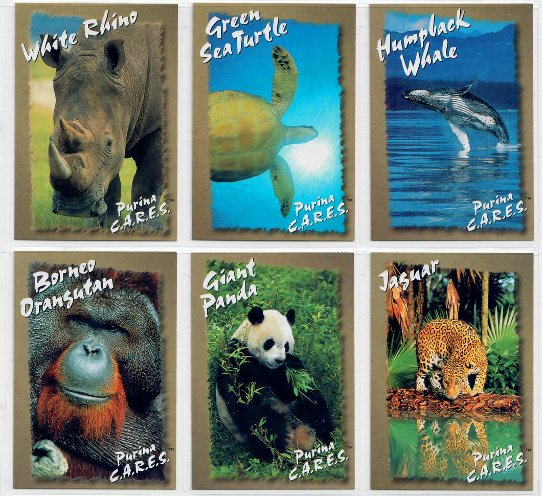 Endangered Species - PURINA C..A.R.E.S. - Ralston Purina - 6 Card Promo Set