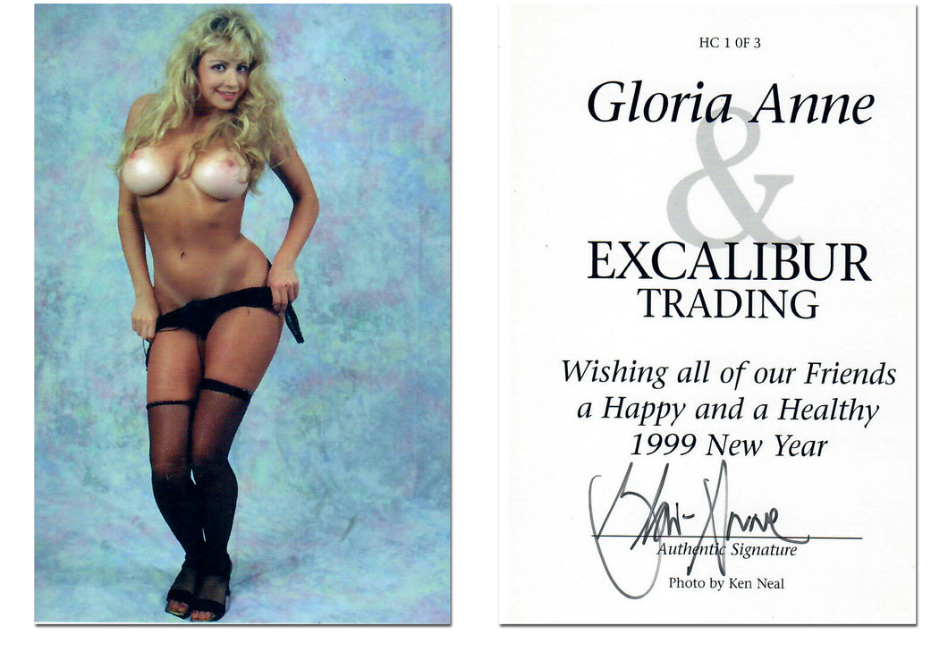 Excalibur Trading Cards - Gloria Anne - Jumbo 3.5 x 5 - Autographed Card HC1 of 3