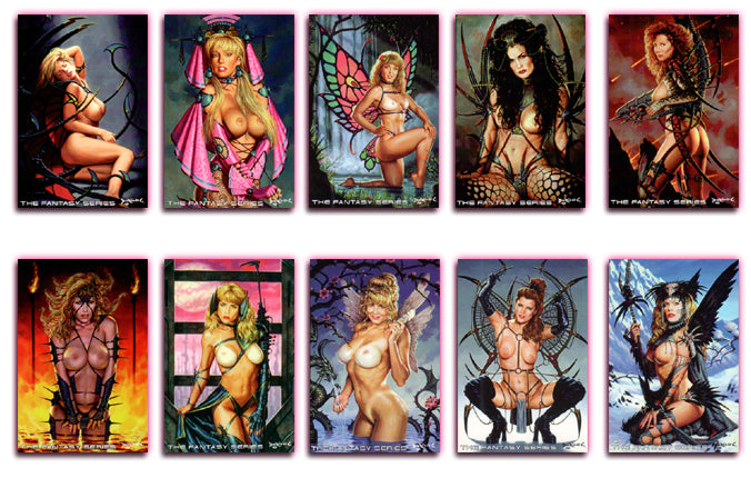 Silver Star - THE FANTASY SERIES - Jumbo 10 Card Set - Dorian Cleavenger Artwork - Rare