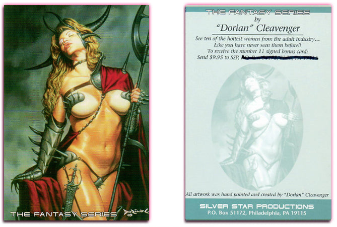 Silver Star - THE FANTASY SERIES - Jumbo Bonus Card Promo Card - Dorian Cleavenger Artwork